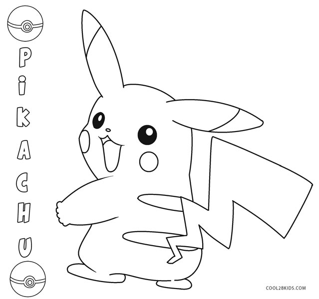 pikachu with hat coloring pages - photo#17