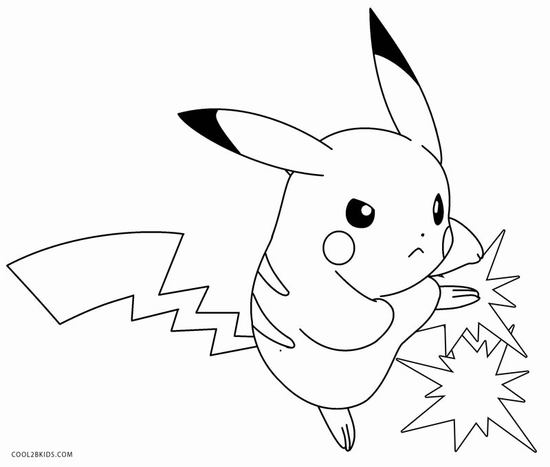 pikachu with hat coloring pages - photo#3