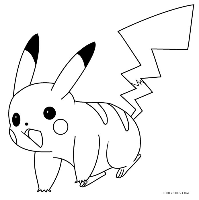 graphic relating to Pikachu Printable identify Printable Pikachu Coloring Webpages For Young children Neat2bKids