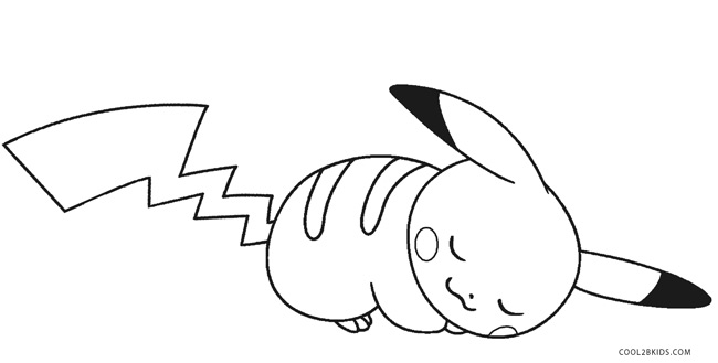 pikachu in action coloring pages - photo#28