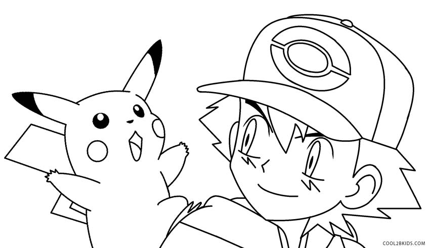 pikachu with hat coloring pages - photo#18