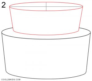 How to Draw a Birthday Cake Step 2