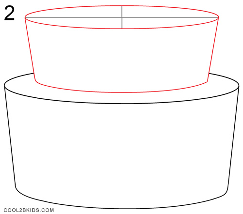 How To Draw A Cake Step By Step Cake Drawing For Kids