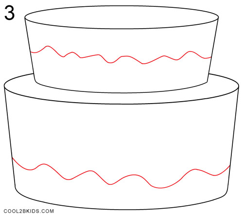 Images Of Cake To Draw : How to Draw a Birthday Cake (Step by Step Pictures ...