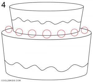 How to Draw a Birthday Cake Step 4