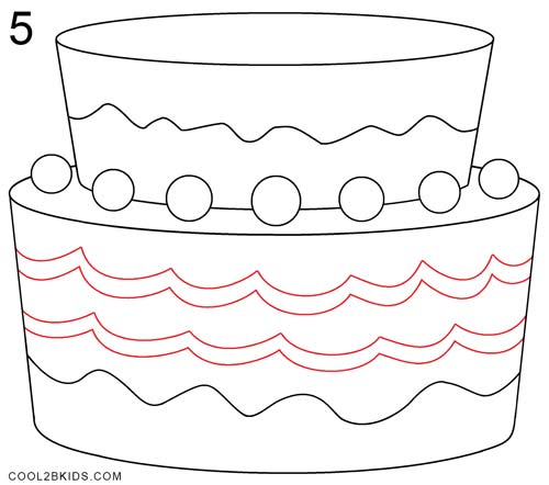 Astonishing How To Draw A Birthday Cake Step By Step Pictures Cool2Bkids Personalised Birthday Cards Paralily Jamesorg