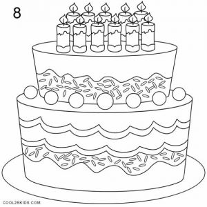 How to Draw a Birthday Cake Step 8