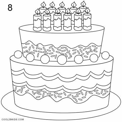 Fantastic How To Draw A Birthday Cake Step By Step Pictures Cool2Bkids Funny Birthday Cards Online Alyptdamsfinfo