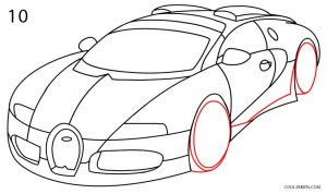 How to Draw a Bugatti Step 10