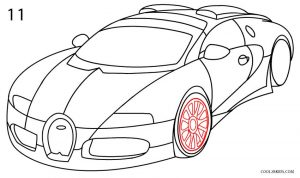 How to Draw a Bugatti Step 11