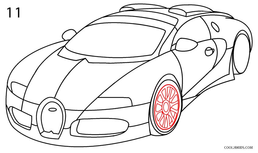 How to draw a bugatti step by step pictures cool2bkids for How to draw a cool a