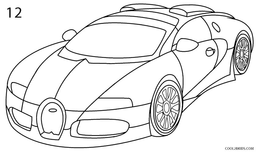 How to draw a bugatti