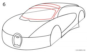 How to Draw a Bugatti Step 6