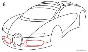 How to Draw a Bugatti Step 8
