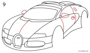 How to Draw a Bugatti Step 9