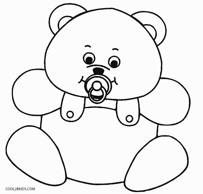 Printable Teddy Bear Coloring Pages