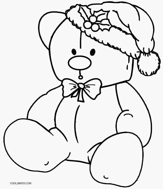 Christmas Coloring Pages Teddy Bear Coloring Pages