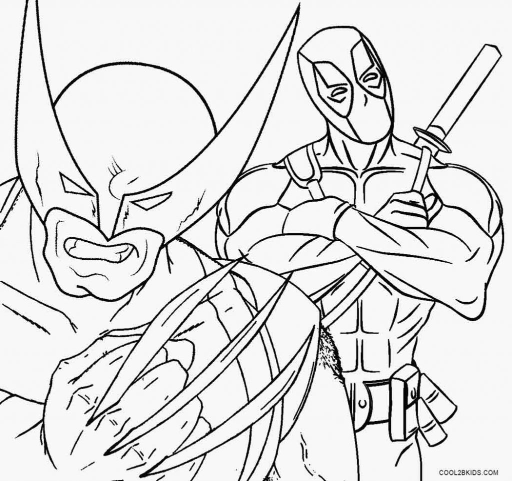 deadpool coloring pages printable coloring pages
