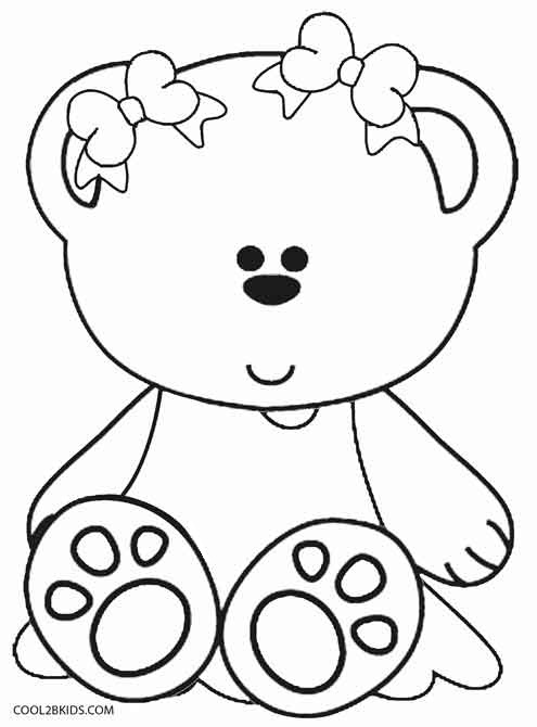 Printable teddy bear coloring pages for kids cool2bkids for Free bear coloring pages