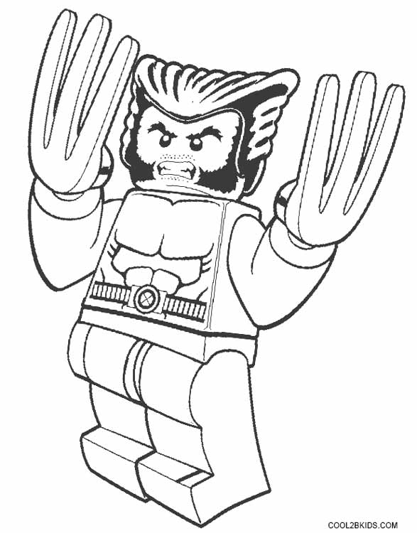 Lego wolverine coloring pages