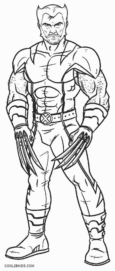 free coloring pages of wolverine - photo#14