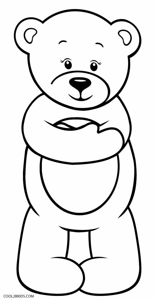 teddy bear coloring pages free