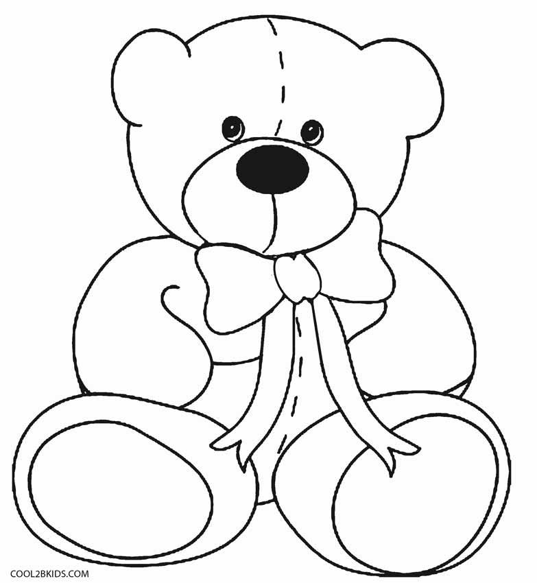 teddy coloring pages printable teddy bear coloring pages for kids cool2bkids