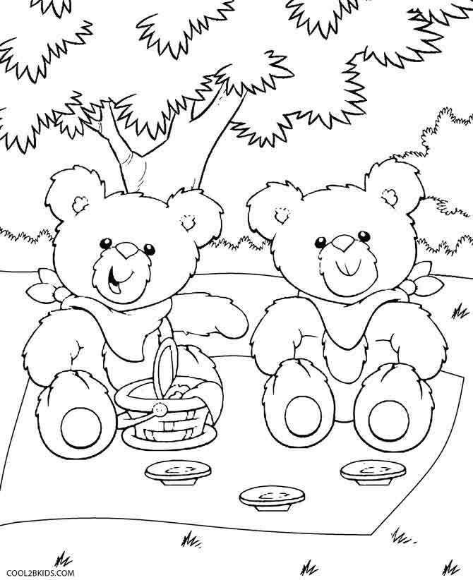 Image Result For Teddy Bear Picnic Coloring Pages