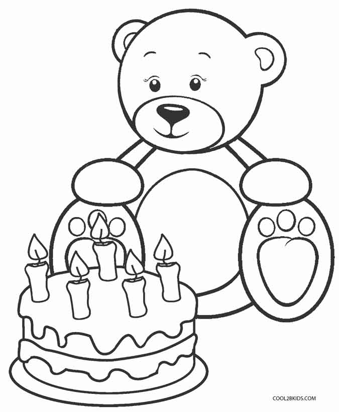 printable coloring pages of teddy bears | Printable Teddy Bear Coloring Pages For Kids | Cool2bKids