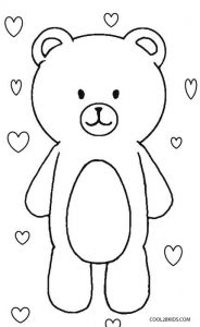 Teddy Bear Valentine Coloring Pages
