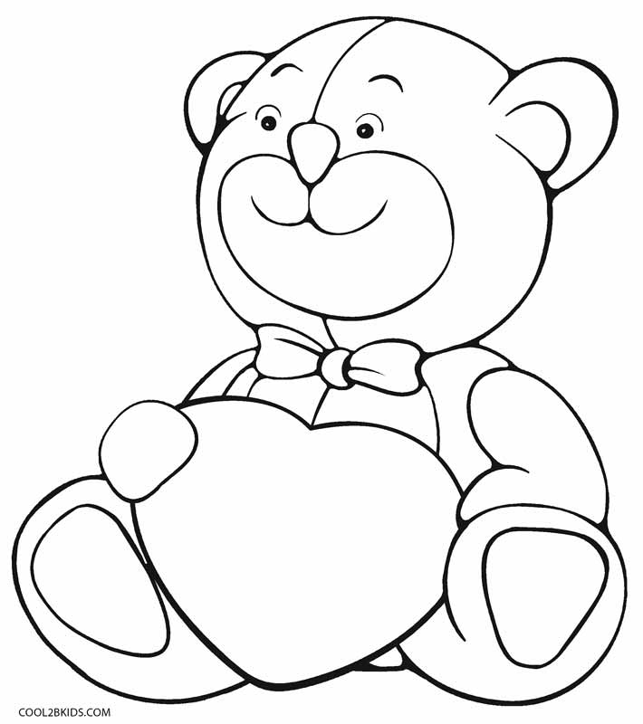teddy bear heart coloring pages - photo#5