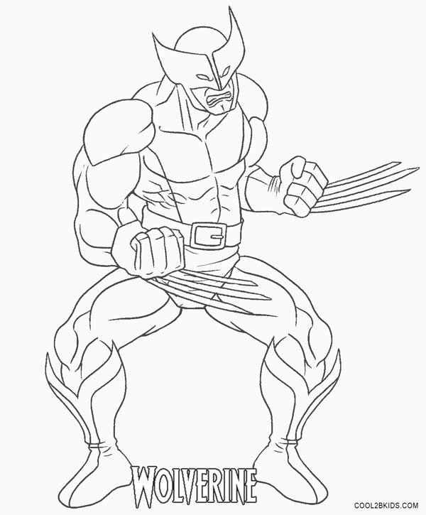 Page: Printable Wolverine Coloring Pages For Kids
