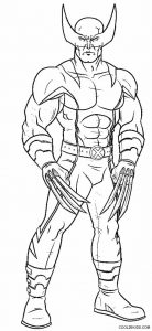 Wolverine Coloring Pages Free Printable