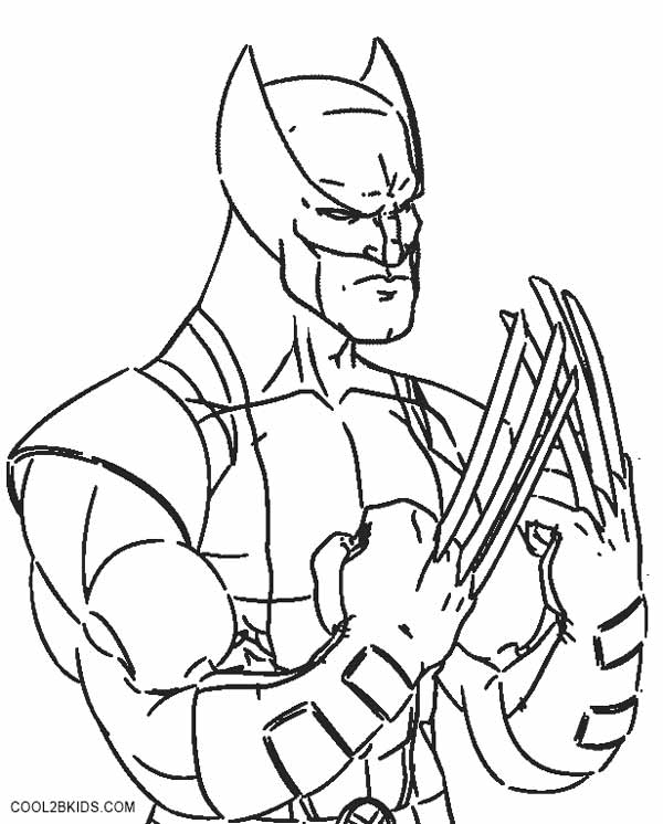Wolverine coloring pages printable