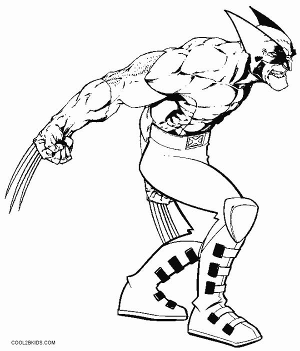 Printable Wolverine Coloring Pages For Kids
