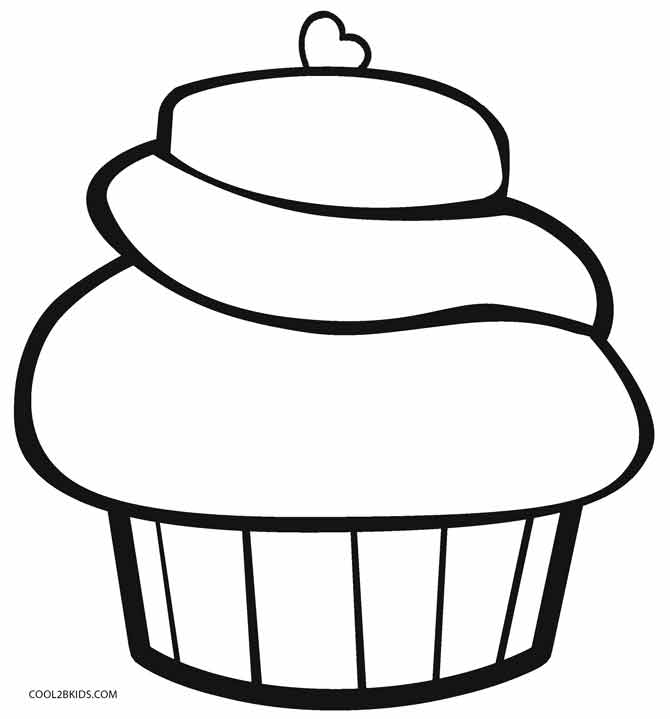 Colouring Images Of Cupcake : Free Printable Cupcake Coloring Pages For Kids Cool2bKids