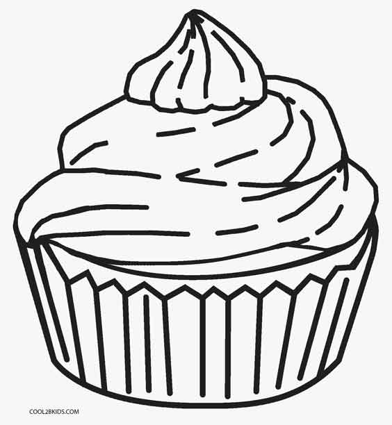 Cup Cake Coloring Pages For Preschoolers : Free Printable Cupcake Coloring Pages For Kids Cool2bKids