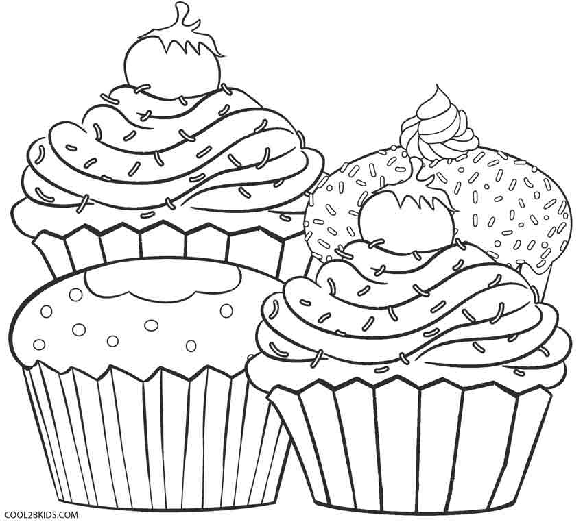 cupcake coloring pages for adults - Cupcakes Coloring Pages