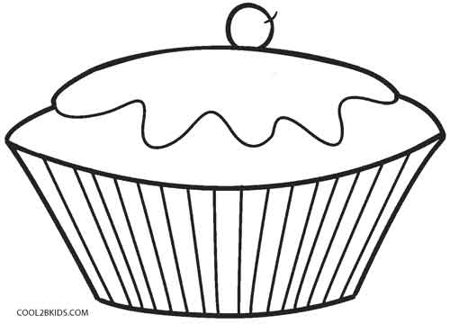 cupcake coloring pages for kids - Cupcake Coloring Page