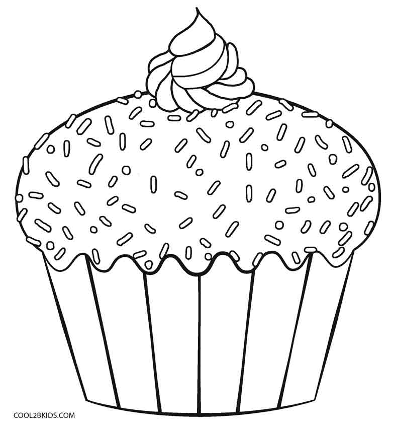 cupcake coloring pages - Cupcakes Coloring Pages