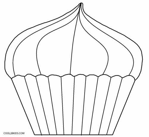photo relating to Cupcake Template Printable referred to as Cost-free Printable Cupcake Coloring Internet pages For Little ones Awesome2bKids