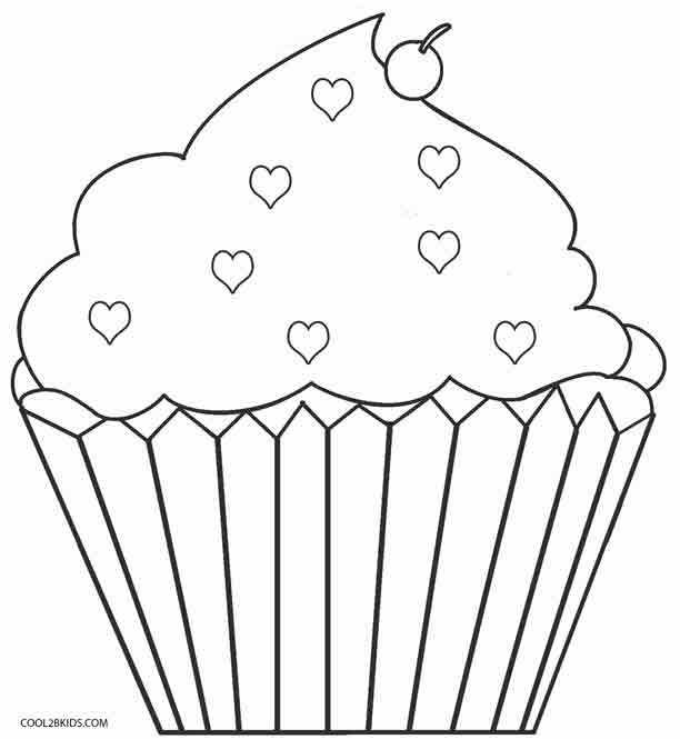 graphic about Printable Cupcakes named No cost Printable Cupcake Coloring Internet pages For Small children Interesting2bKids
