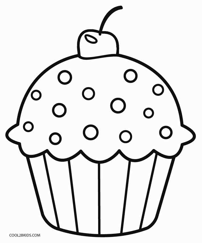 cupcakes coloring pages - Printable Coloring For Kids