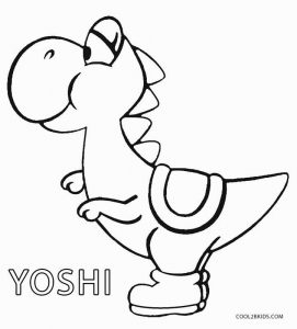 Free Printable Yoshi Coloring Pages