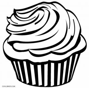 Hard Cupcake Coloring Pages