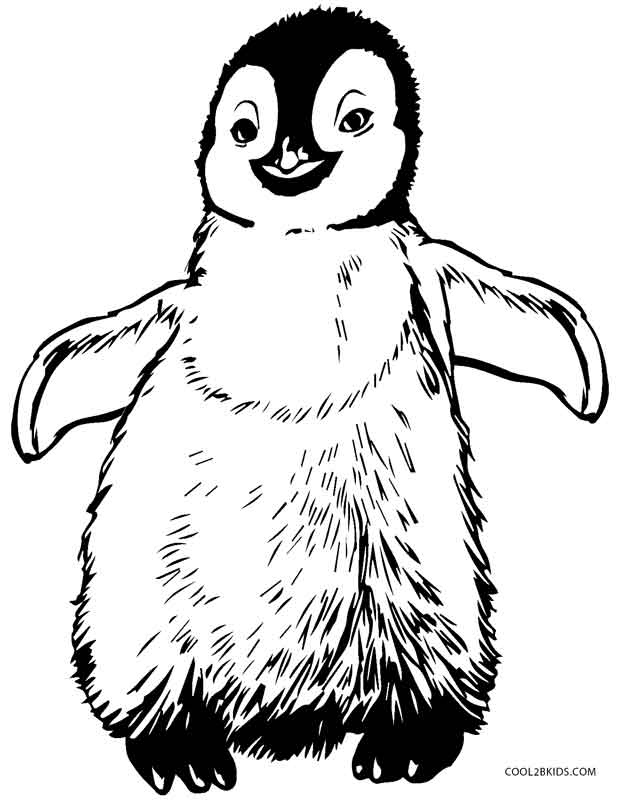 penguins coloring pages printable - photo#2