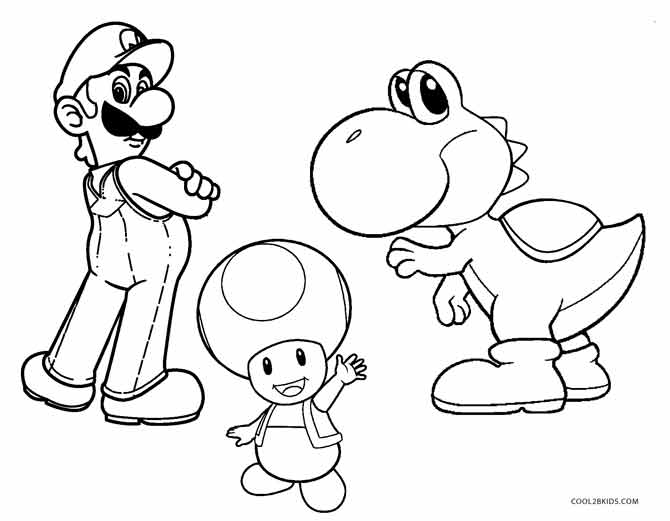 mario bro yoshi coloring pages - photo#2