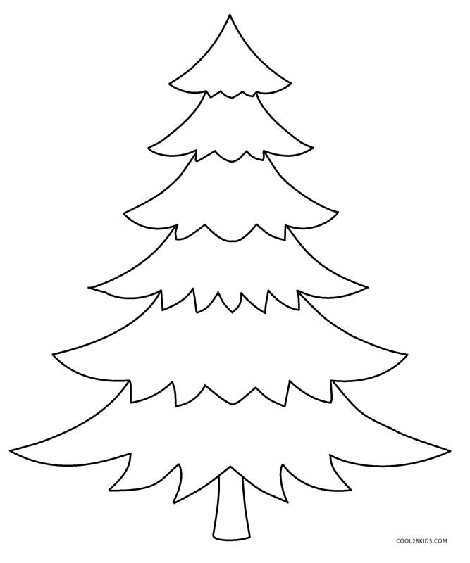 Printable Christmas Tree Coloring Pages Kids Cool Bkids