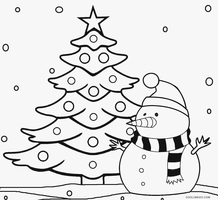 Printable christmas tree coloring pages for kids cool2bkids for Coloring pages for kids christmas