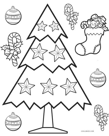 Christmas Trees Colouring Pages: Printable Christmas Tree Coloring Pages For Kids